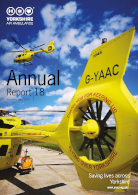 Image of the cover of the Yorkshire Air Ambulance Annual Report 18 - Year ending March 2019