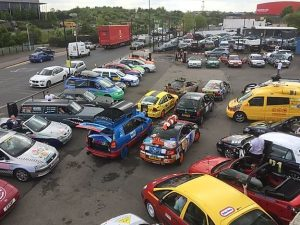 Image of cars taking part in the Benidorm Bangers Rally