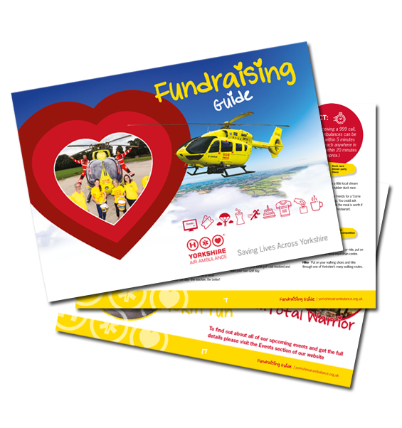 Image of the Yorkshire Air Ambulance Fundraising Guide