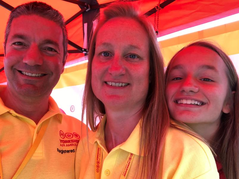 Family who volunteer for YAA