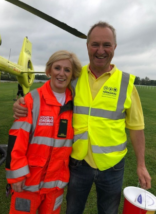 Registered Volunteer John Mitchell after he was rescued by the YAA