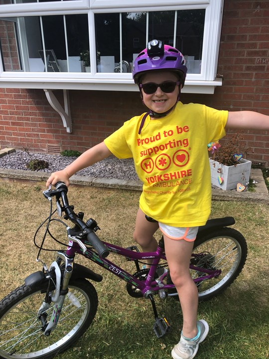 Emily did a 150km challenge for the YAA