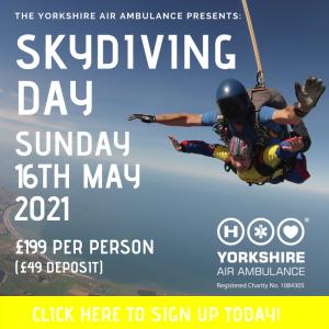 Details of YAA Skydive Sunday 16th May 2021