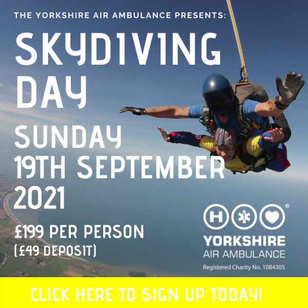 Details of YAA Skydive on Sunday 19th September 2021