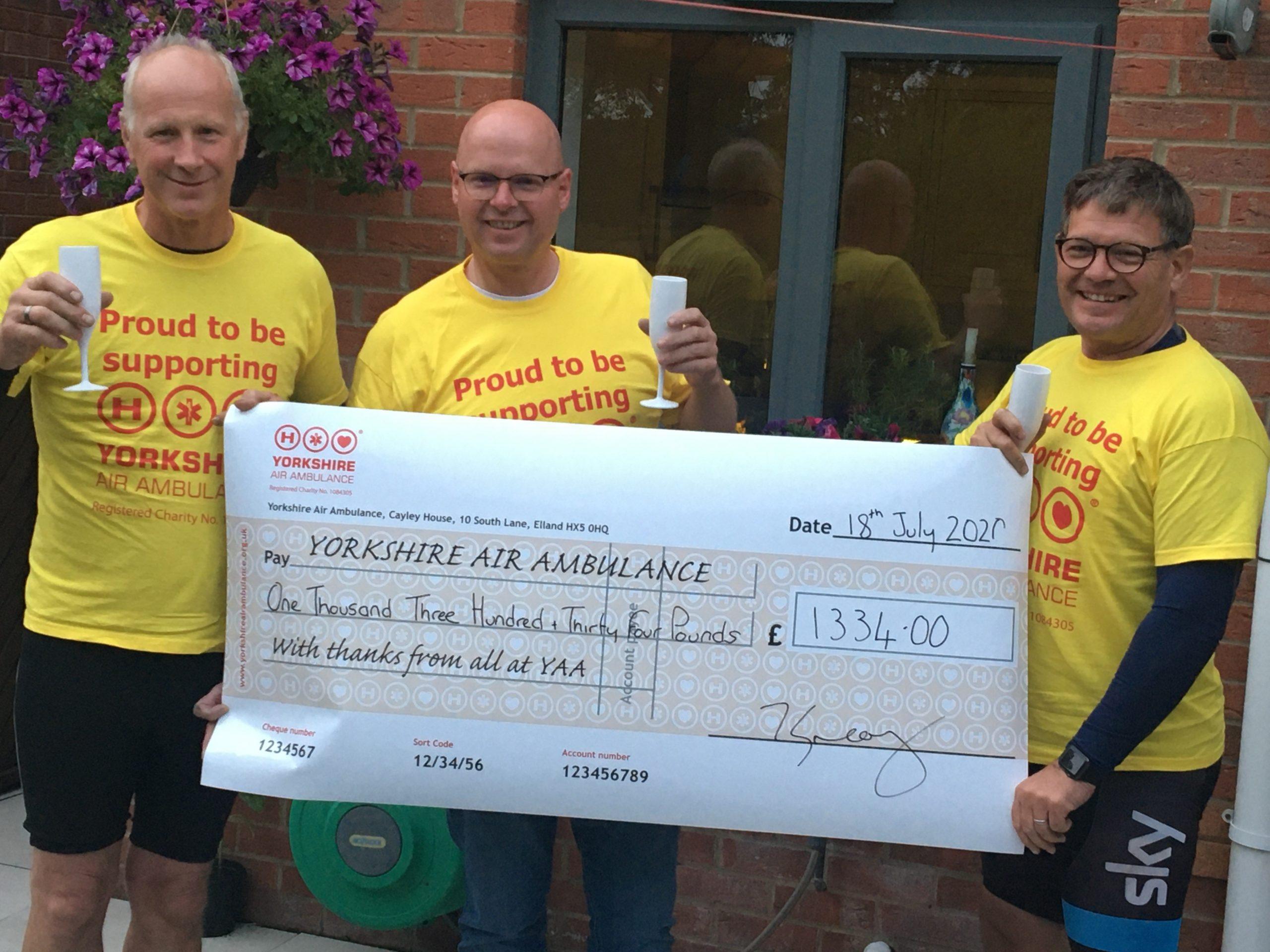 Coastal challenge raises £1,334 for YAA