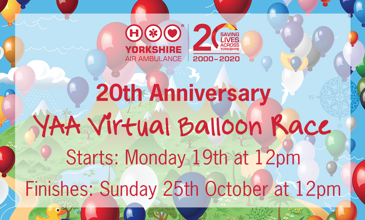 We are inviting you to celebrate with us by taking part in our Virtual Balloon Race flyer