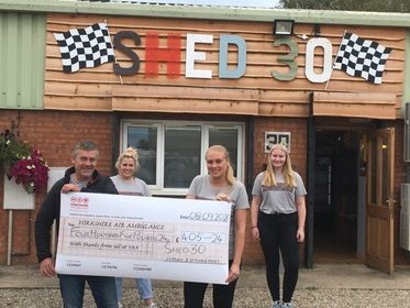 Newly opened Shed 30 café in Kirbymoorside raise over £400 for YAA heroes