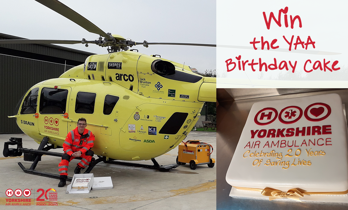 Images of YAA Birthday Cake donated by Bettys Northallerton