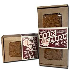 Image of 2 boxes of Lottie Shaws YAA Ginger Parkin Biscuits