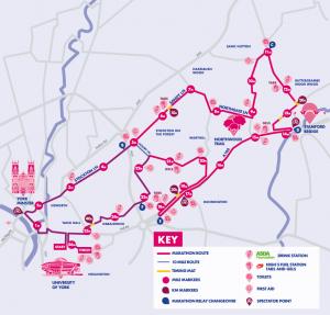 Yorkshire Marathon Route Map