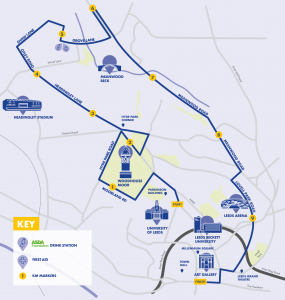 Run For All Leeds 10K Route Map