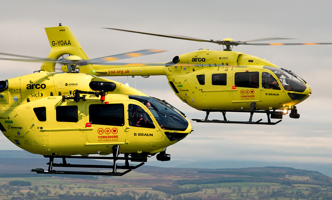 Airbus H145 helicopters