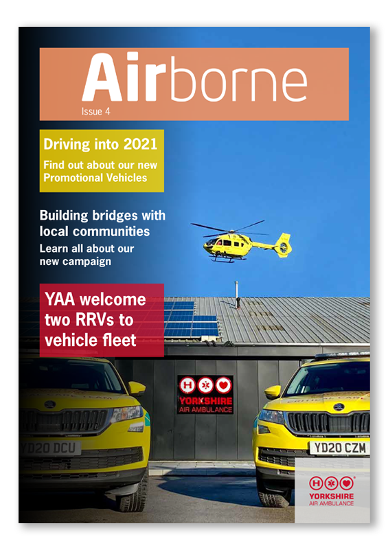 Front Cover of Yorkshire Air Ambulance Airborne Newsletter Issue 4