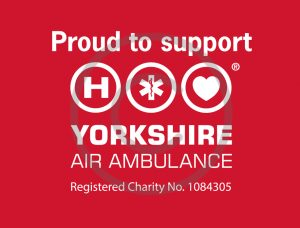 Copyright - Proud to support YAA Logo white on red